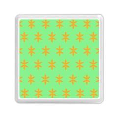 Flower Floral Different Colours Green Orange Memory Card Reader (Square)