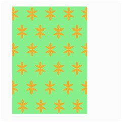Flower Floral Different Colours Green Orange Large Garden Flag (Two Sides)