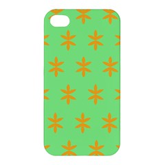 Flower Floral Different Colours Green Orange Apple iPhone 4/4S Premium Hardshell Case
