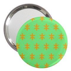 Flower Floral Different Colours Green Orange 3  Handbag Mirrors