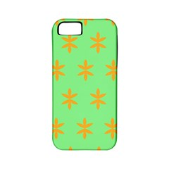 Flower Floral Different Colours Green Orange Apple iPhone 5 Classic Hardshell Case (PC+Silicone)