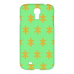 Flower Floral Different Colours Green Orange Samsung Galaxy S4 I9500/I9505 Hardshell Case