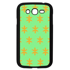 Flower Floral Different Colours Green Orange Samsung Galaxy Grand DUOS I9082 Case (Black)