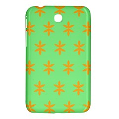 Flower Floral Different Colours Green Orange Samsung Galaxy Tab 3 (7 ) P3200 Hardshell Case