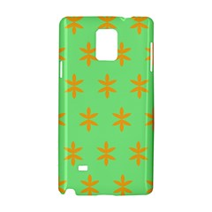 Flower Floral Different Colours Green Orange Samsung Galaxy Note 4 Hardshell Case