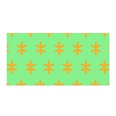 Flower Floral Different Colours Green Orange Satin Wrap