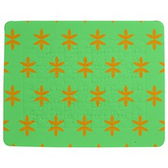Flower Floral Different Colours Green Orange Jigsaw Puzzle Photo Stand (Rectangular)