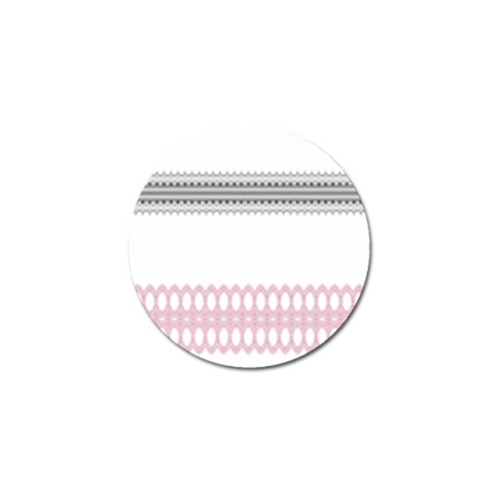 Crown King Quinn Chevron Wave Pink Black Golf Ball Marker