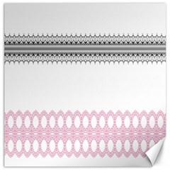 Crown King Quinn Chevron Wave Pink Black Canvas 20  X 20