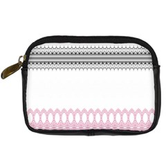 Crown King Quinn Chevron Wave Pink Black Digital Camera Cases