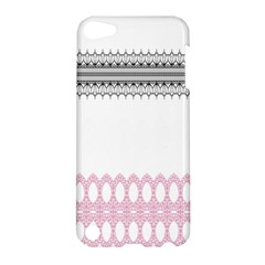 Crown King Quinn Chevron Wave Pink Black Apple iPod Touch 5 Hardshell Case