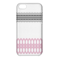 Crown King Quinn Chevron Wave Pink Black Apple iPhone 5C Hardshell Case