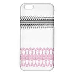 Crown King Quinn Chevron Wave Pink Black iPhone 6 Plus/6S Plus TPU Case