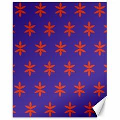 Flower Floral Different Colours Purple Orange Canvas 11  x 14