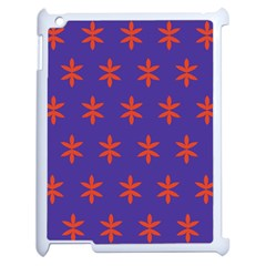 Flower Floral Different Colours Purple Orange Apple iPad 2 Case (White)