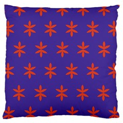 Flower Floral Different Colours Purple Orange Large Cushion Case (Two Sides)