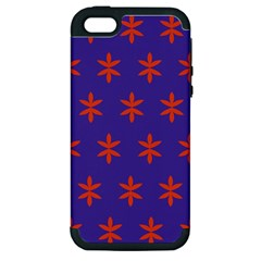 Flower Floral Different Colours Purple Orange Apple iPhone 5 Hardshell Case (PC+Silicone)