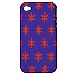 Flower Floral Different Colours Purple Orange Apple iPhone 4/4S Hardshell Case (PC+Silicone)