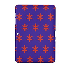 Flower Floral Different Colours Purple Orange Samsung Galaxy Tab 2 (10.1 ) P5100 Hardshell Case