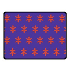 Flower Floral Different Colours Purple Orange Double Sided Fleece Blanket (Small)