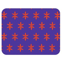 Flower Floral Different Colours Purple Orange Double Sided Flano Blanket (Medium)