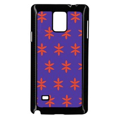 Flower Floral Different Colours Purple Orange Samsung Galaxy Note 4 Case (Black)