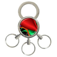 Fractal Construction 3 Ring Key Chains