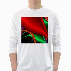 Fractal Construction White Long Sleeve T-Shirts