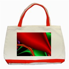 Fractal Construction Classic Tote Bag (red)