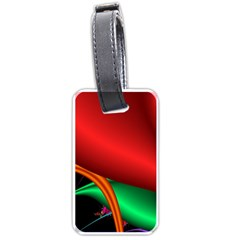 Fractal Construction Luggage Tags (one Side)