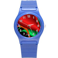 Fractal Construction Round Plastic Sport Watch (S)