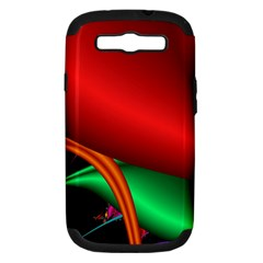 Fractal Construction Samsung Galaxy S III Hardshell Case (PC+Silicone)