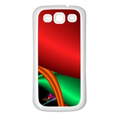 Fractal Construction Samsung Galaxy S3 Back Case (White)