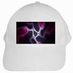 Colorful Fractal Background White Cap