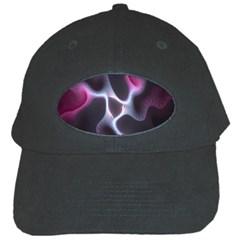 Colorful Fractal Background Black Cap