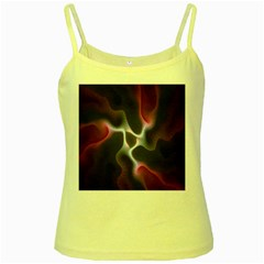 Colorful Fractal Background Yellow Spaghetti Tank
