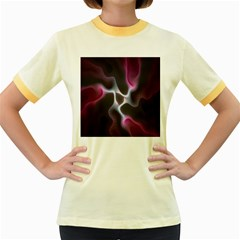 Colorful Fractal Background Women s Fitted Ringer T-Shirts