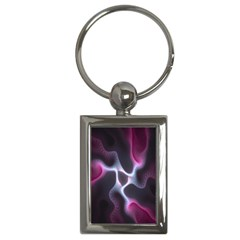 Colorful Fractal Background Key Chains (rectangle)