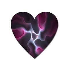 Colorful Fractal Background Heart Magnet