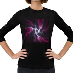 Colorful Fractal Background Women s Long Sleeve Dark T-Shirts