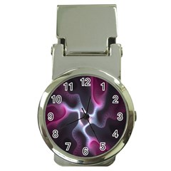 Colorful Fractal Background Money Clip Watches