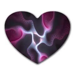 Colorful Fractal Background Heart Mousepads