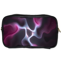 Colorful Fractal Background Toiletries Bags