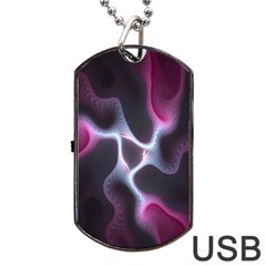 Colorful Fractal Background Dog Tag USB Flash (One Side)