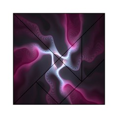 Colorful Fractal Background Acrylic Tangram Puzzle (6  X 6 )