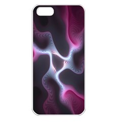Colorful Fractal Background Apple iPhone 5 Seamless Case (White)