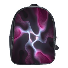 Colorful Fractal Background School Bags (XL)