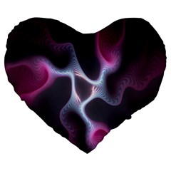 Colorful Fractal Background Large 19  Premium Heart Shape Cushions