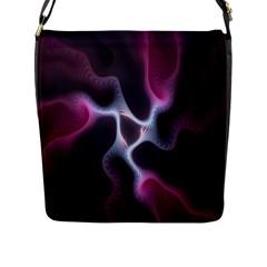 Colorful Fractal Background Flap Messenger Bag (L)