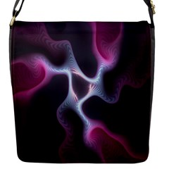 Colorful Fractal Background Flap Messenger Bag (S)
